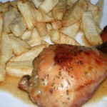 Perniles de pollo al horno