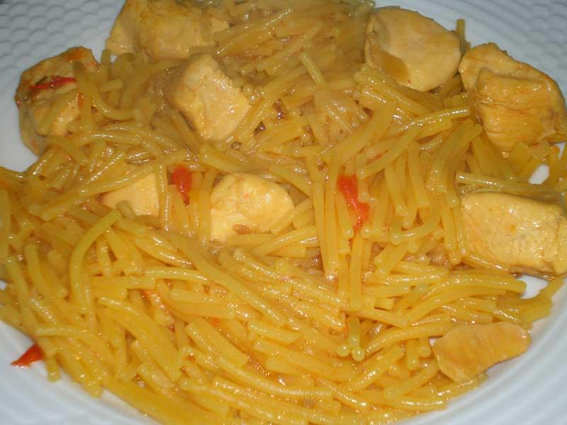 Receta de fideo con pollo for Cocinando con sergio en la1