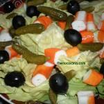 Ensalada con palitos de cangrejo