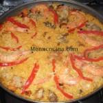 Paella con Gambas
