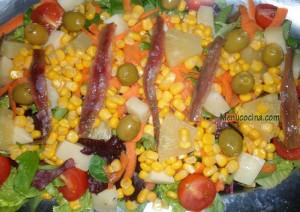 ensalada con anchoas