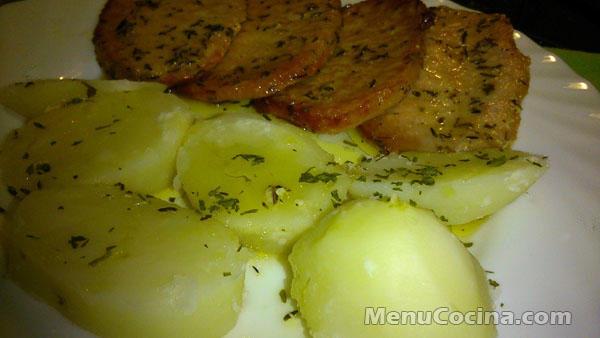 Lomo al horno con patatas